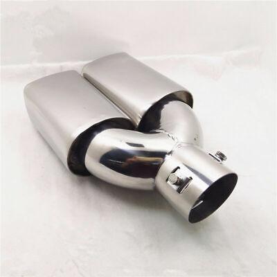 "USA Stainless Steel 63mm 2.5""  Slant Cut Car Exhaust Muffler Tip Universal"