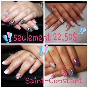 Pose d'ongles 23$