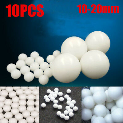 White Smooth Industrial Pom Plastic Balls Solid Bearing Ball Roller Bead 10-20mm