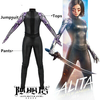 Angel Halloween (Alita: Battle Angel Cosplay Costume Tights Halloween Outfits Jumpsuit Full)