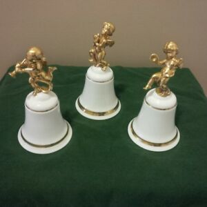 "ROYAL DOULTON SET OF THREE ""THE SPEECH OF ANGELS"" BELLS"