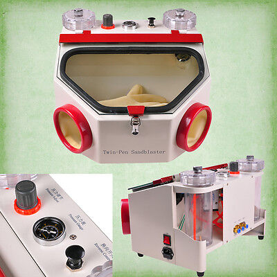 Ce Dental Two Double Pen Fine Sandblaster Blasting Unit For Polishing Equipment