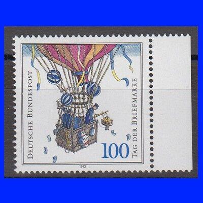 BRD 1638 ** 1992 - Tag der Briefmarke - Ballonpost RABATT Rand rechts