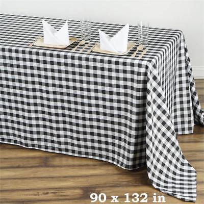 Black White Checkered 90x132