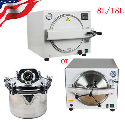 8l18l Dental Lab Autoclave Steam Sterilizer Medical Sterilizition Equipment Fda