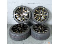 "18"" San Diego Style Alloy Wheels will fit VW Passat, Jetta, Golf MK5, MK6, MK7, Caddy, Seat Leon Etc"