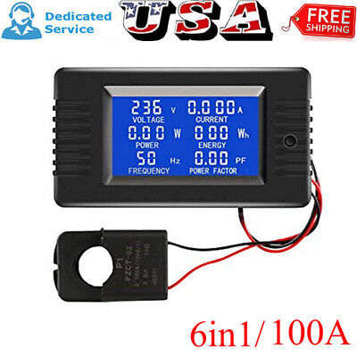 Pzem-022 Ac Digital Meter Power Energy Voltage Current Kwh Test Close Open 100a