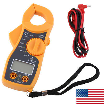 Digital Clamp Meter Multimeter Ac Voltmeter Volt Ohm Amp Tester Lcd Screen