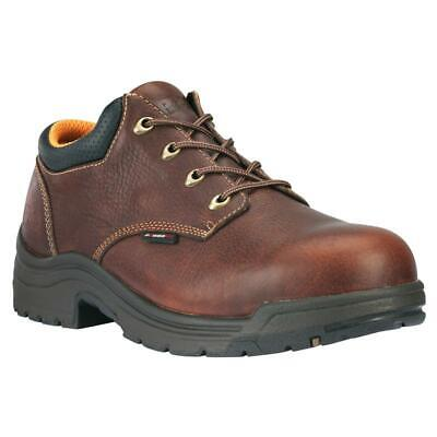 NEW! TIMBERLAND 47028 - MENS TITAN OXFORD SAFETY TOE BROWN 8.5