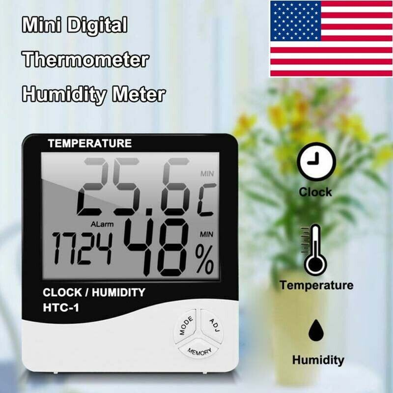 digital lcd thermometer hygrometer humidity meter room