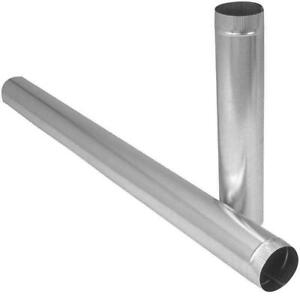"8"" Pipe 5 Ft , 28 Gauge - Galvanized Steel Pipe"