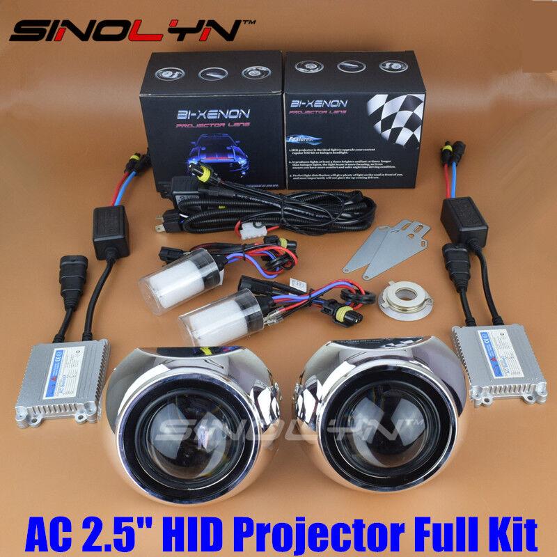 Details about Automobiles 2 5'' HID Bi-xenon Projector Lens Kit For  Headlight Retrofit DIY