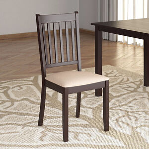 Set of 4 Dining Chairs with Microfiber Seat - NEW