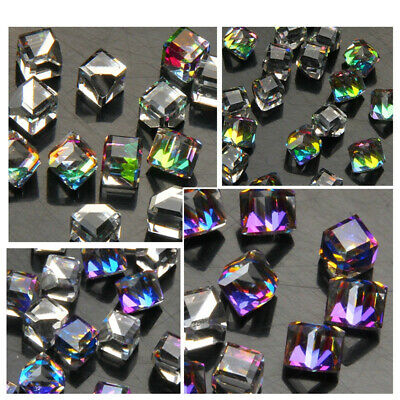 RUOSHAN Shiny 3D Glass Crystal Rhinestone Geometric Cube Square DIY - Diy 3d Glasses