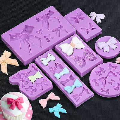Butterfly Bow-Knot Bow Silicone Fondant Mold Cake Decorating Baking Mould Tools - Fondant Bow
