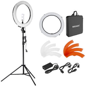 Neewer 18 inches 55W LED 5500K Dimmable Ring Light Kit Includes: