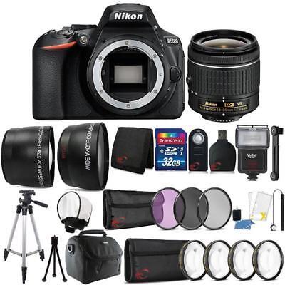 Nikon D5600 24.2MP DSLR Camera 18-55mm Lens + Zoom Flash + Full Accessory Kit