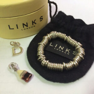 Authentic Links of London Bracelet (Size SMALL) and 2 charms