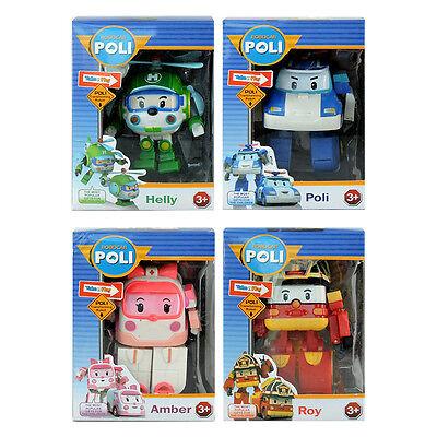 4pcs Lot Robocar POLI ROY AMBER HELLY Transformer Transforming Robot Figure Toy