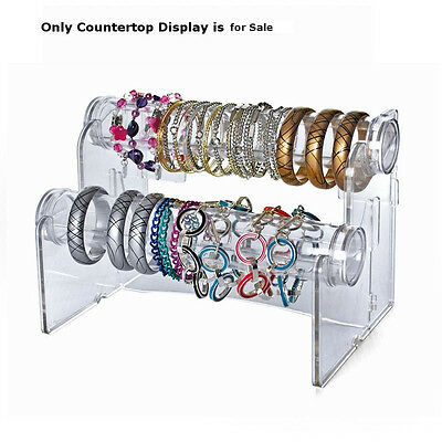 2-tier Horizontal 12 Long Countertop Bracelet Display 10.5 W X 5.5 H X 4 D