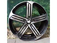 """18"""" Phase 2 R-Line Alloy Wheels for VW Golf mk5, mk6, mk7, Jetta, Caddy Etc"""