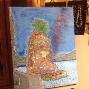 Oil Painting of Siwash Rock BC Signed