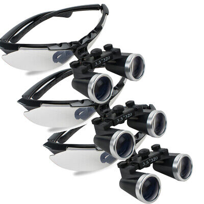 5pcs3.5x320mm Dental Lab Surgical Loupes Medical Binocular Glasses Magnifier