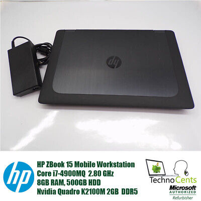 HP ZBook 15 CORE i7-49000MQ 2.8GHz 8GB 500GB NVIDIA Quadro K2100M