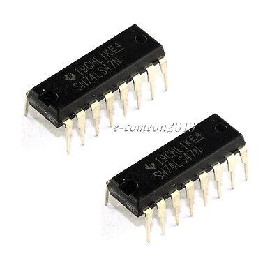 New 2 Pcs 74ls47 7447 Bcd To Seven Segment Decoder-driver Ic Dip-16 Component
