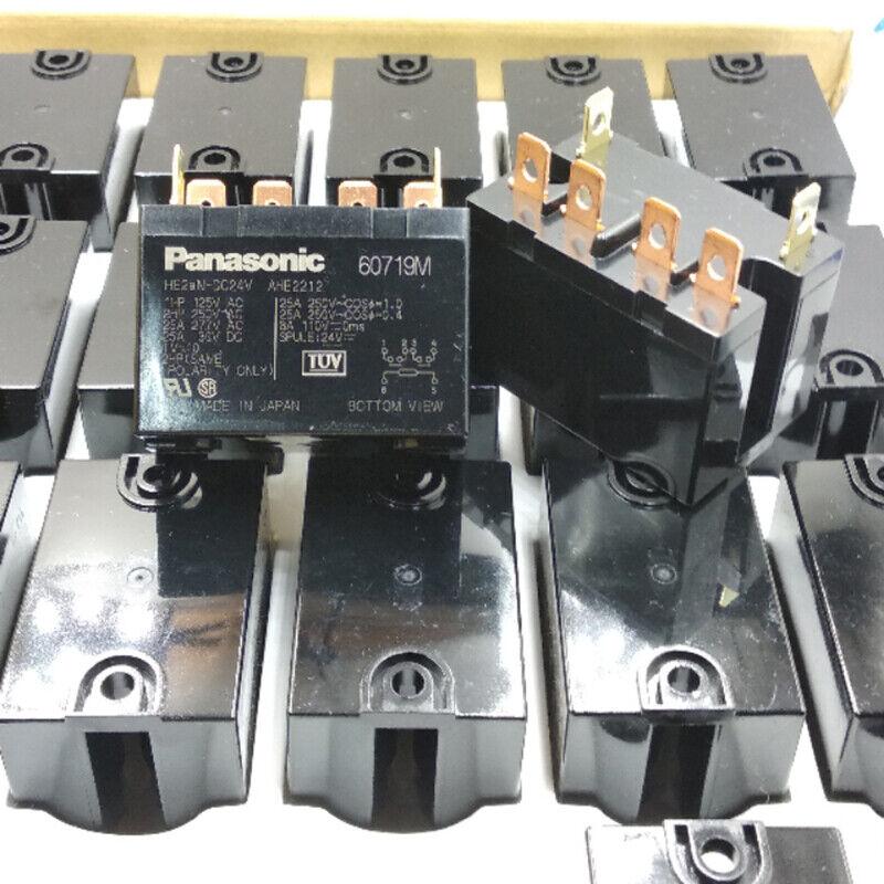 5PCS Panasonic HE2aN-DC24V 25A AHE2212 Relay 6 Pins 8A