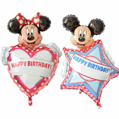 Personalize your own name Happy Birthday Minnie Mickey Mouse foil balloon ()