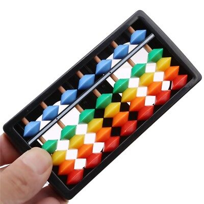 Game Arithmetic 7 Digits Chinese Abacus Toy Rainbow Puzzle Game ABS Kids Maths