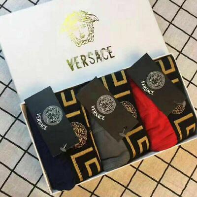 Versaces Men's Underwear boxers pants briefs Trunks Pack Black UK STOCK
