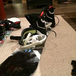 Selling Snowboard, Size 2 Boots, Bindings