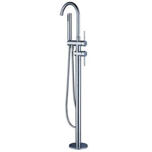 Votamuta Brass Chrome Bathroom Floor Mount Tub Faucet Bathtub Mi