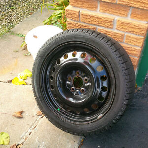 225 45 17 Michelin X Ice on 5x114.3 Rims.  Off AcuraTL fits many