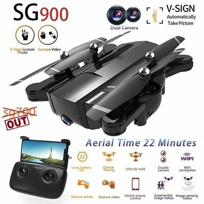 SG900 Foldable Drone pro 2.4G Selfi WIFI FPV 1080P HD Dual Camera RC Quadcopter