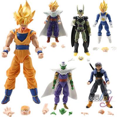 Lot 6Pcs Dragonball Z Dragon ball DBZ Goku Piccolo Action Figure Toy Set Anime