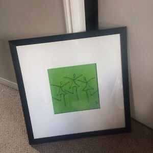 Framed Print, Green Dancers