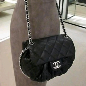 Mint Condition SMALL Chanel Chain around crossbody bag.
