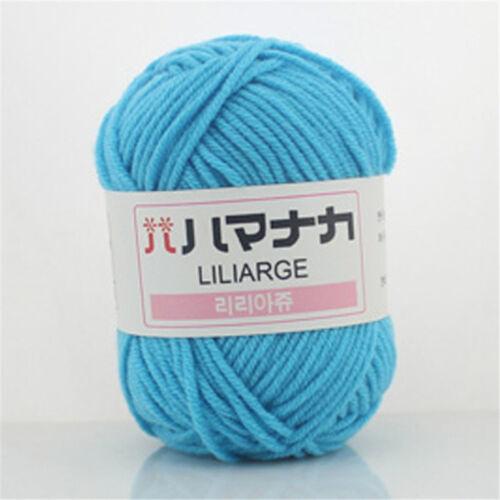 NEW 42 colors Soft Cotton Bamboo Crochet Knitting Yarn Baby Knit Wool Yarn