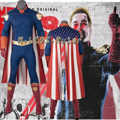 Popular Costumes For Boys (Popular Homelander Cosplay The Boys Outfit Halloween Costume for Kids Men)