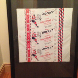 Montreal Canadiens Rocket Richard - RARE 1950s Bread Wrapper