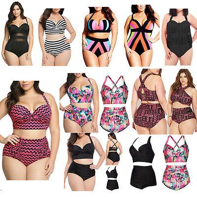 bd1cbbe0c3 2019 PLUS SIZE Women One Piece Swimsuit Push Up Bikini Swimwear Bathing  Monokini