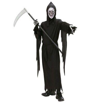 KINDER SENSENMANN KOSTÜM & MASKE TOD Halloween Jungen - Jungen Skelett Kostüm