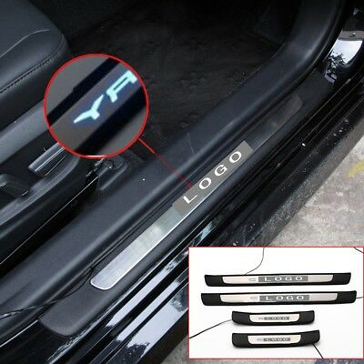 For Toyota Camry 2018-2020 4PCS Blue Illuminated LED Door Sill Scuff Plate Guard