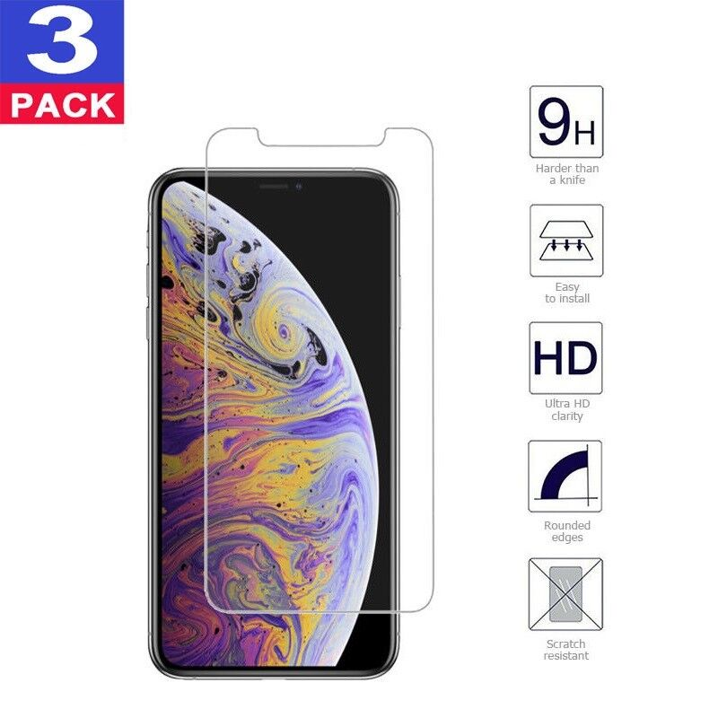 For iPhone Xs Max / Xs / Xs Plus 9H Premium Real Tempered Glass Screen Protector Cell Phone Accessories