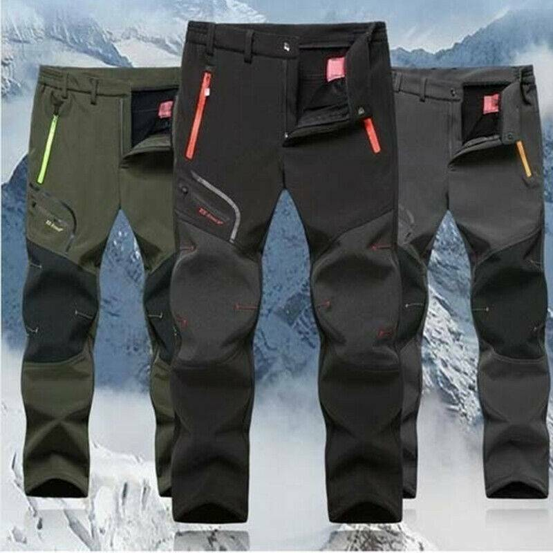 Mens Winter Warm Hiking Pants Thick Thermal Tactical Camping