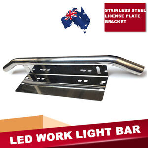 Stainless steel Licence Plate Mounting Bracket for LED Fog Spot Work Light Bar