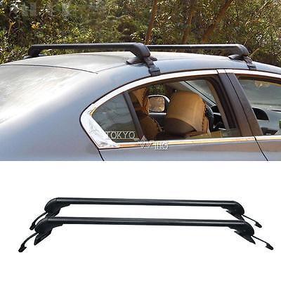 2X Aluminum Roof Rack Cross Bars For 4door Car Sedan SUV Universal Kayak Luggage